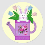 Bunny in a Watering Can Stickers