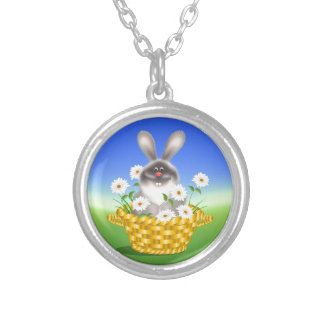 Bunny in Basket Personalized Necklace