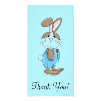 Bunny In Blue Overalls Card