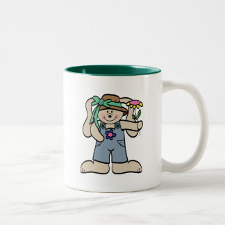 Bunny in Bonnet T-shirts and Gifts Two-Tone Coffee Mug