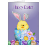 Bunny In Egg Easter Greeting Card