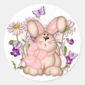 Bunny In Fields: Happy Easter Sticker