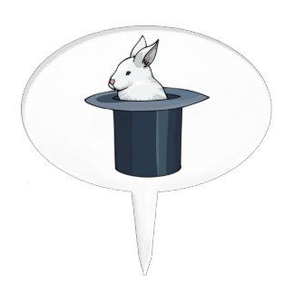 bunny in hat cake topper