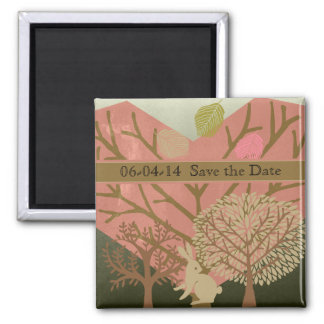 Bunny in Magic Forest Save the Date Magnet