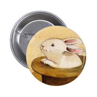 Bunny in Magic Hat Buttons