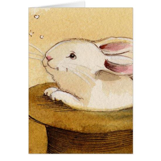 Bunny in Magic Hat Card