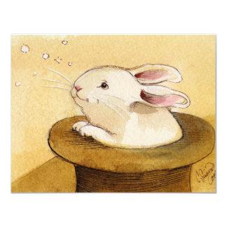 Bunny in Magic Hat 4.25x5.5 Paper Invitation Card