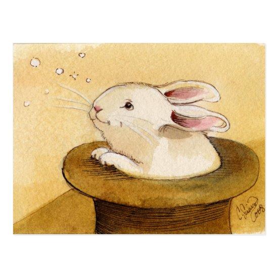 Bunny in Magic Hat Postcard