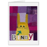 Bunny! in Purple Greeting Cards