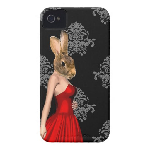Bunny in red dress iPhone 4 cover