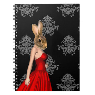 Bunny in red dress note book