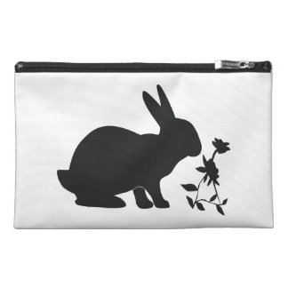 Bunny in Silhouette Travel Accessory Bag
