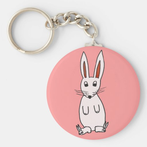 Bunny in Slippers Key Chains