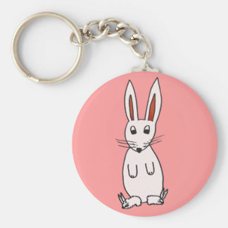 Bunny in Slippers Keychain