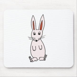 Bunny in Slippers Mouse Pad