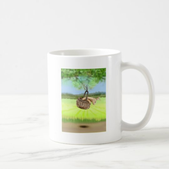 bunny in the basket swinging coffee mug