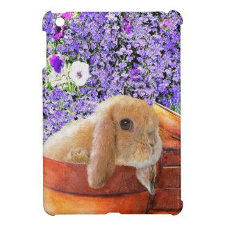 bunny in the flowerpots ipad mini case for the iPad mini