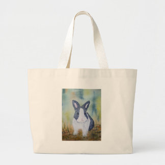 Bunny in the Grass Jumbo Tote Bag