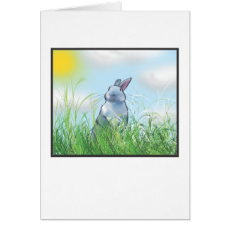 Bunny in the Grass Card