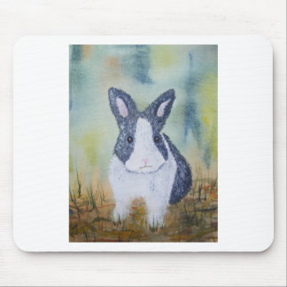 Bunny in the Grass Mouse Pad