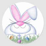 Bunny in the Grass Stickers