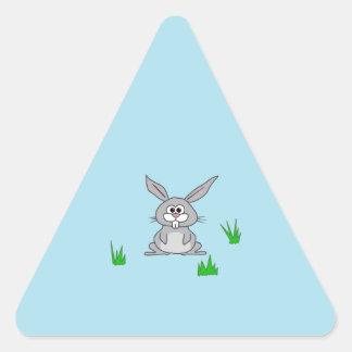 Bunny in the Grass Triangle Sticker