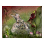 Bunny In The Lilies Easter Poster/Print