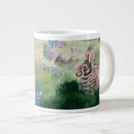 Bunny In the Meadow  Giant Coffee Mug