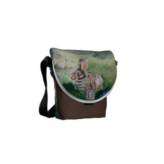 Bunny In the Meadow Mini Messenger Bag