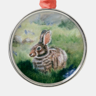 Bunny In the Meadow Ornament