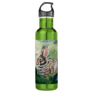Bunny In the Meadow  Stainless Steel Water Bottle