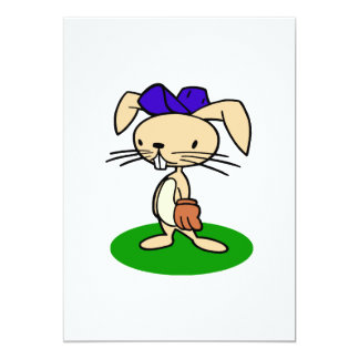 Bunny in the outfield card