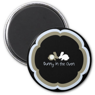 Bunny in the Oven 2 Inch Round Magnet