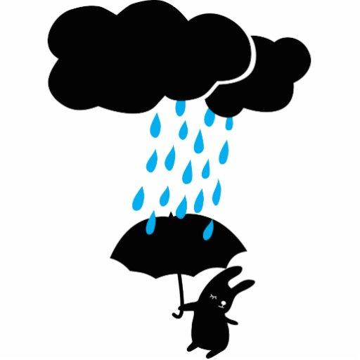 Bunny in the rain cutout