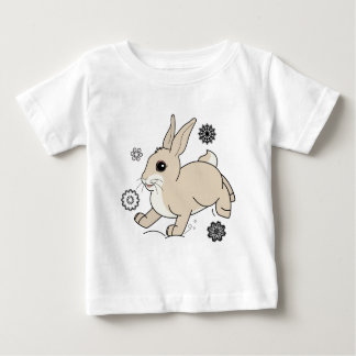Bunny in the Snow Non-Denominational Baby T-Shirt