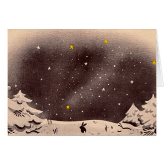 Bunny in the Snow: Perfect for the holidays! Greeting Card