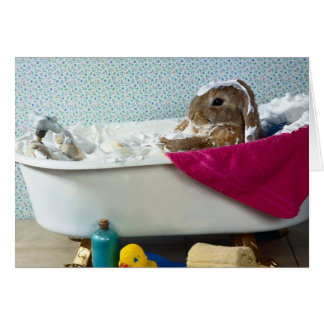 Bunny In the Tub Mother's Day Card