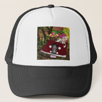 Bunny is carrying Easter eggs. Trucker Hat