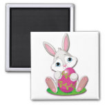 Bunny Joy 2 Inch Square Magnet