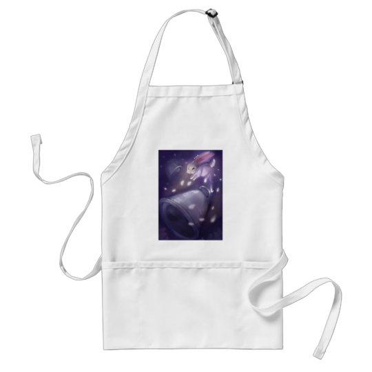 Bunny jump out in to the sky climb up adult apron