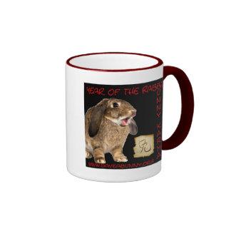 Bunny Karma! Ringer Coffee Mug