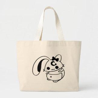 bunny kawaii doll canvas bag