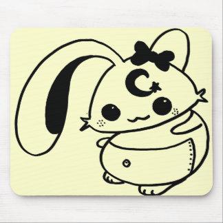 bunny kawaii doll mouse pad