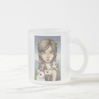 Bunny Keeper Frosted Glass Coffee Mug