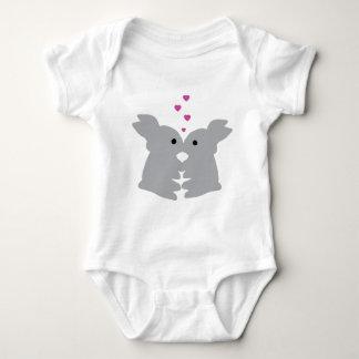 bunny kiss icon baby bodysuit