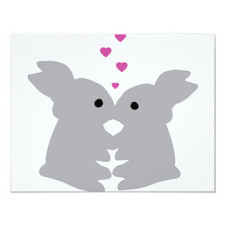 bunny kiss icon card