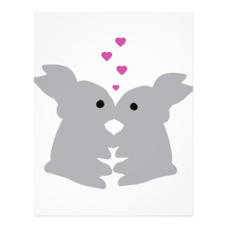 bunny kiss icon custom flyer