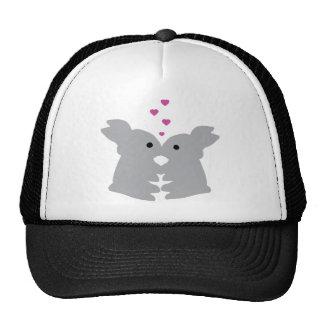 bunny kiss icon trucker hat