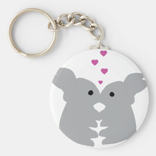 bunny kiss icon keychain