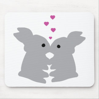 bunny kiss icon mouse pad